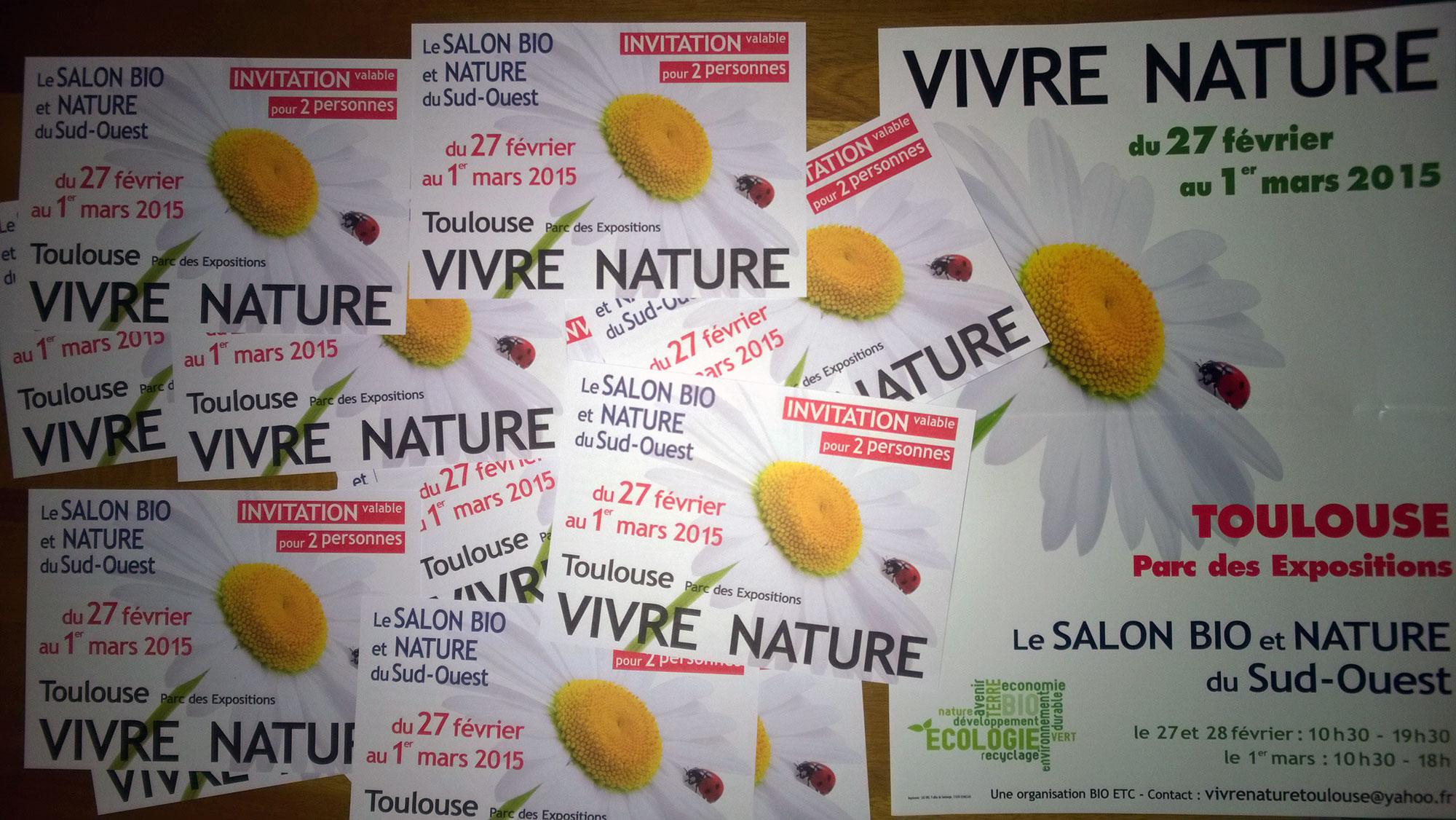 Invitations au salon Vivre Nature Toulouse 2015