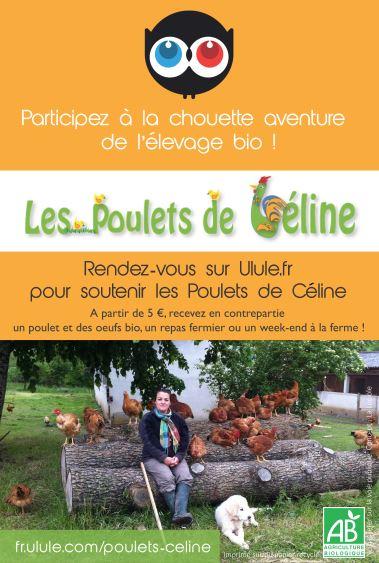 flyer poulets de céline Ulule